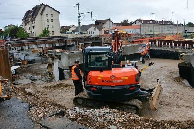 Auch 2021 gibt es in Haltingen noch viele Baustellen