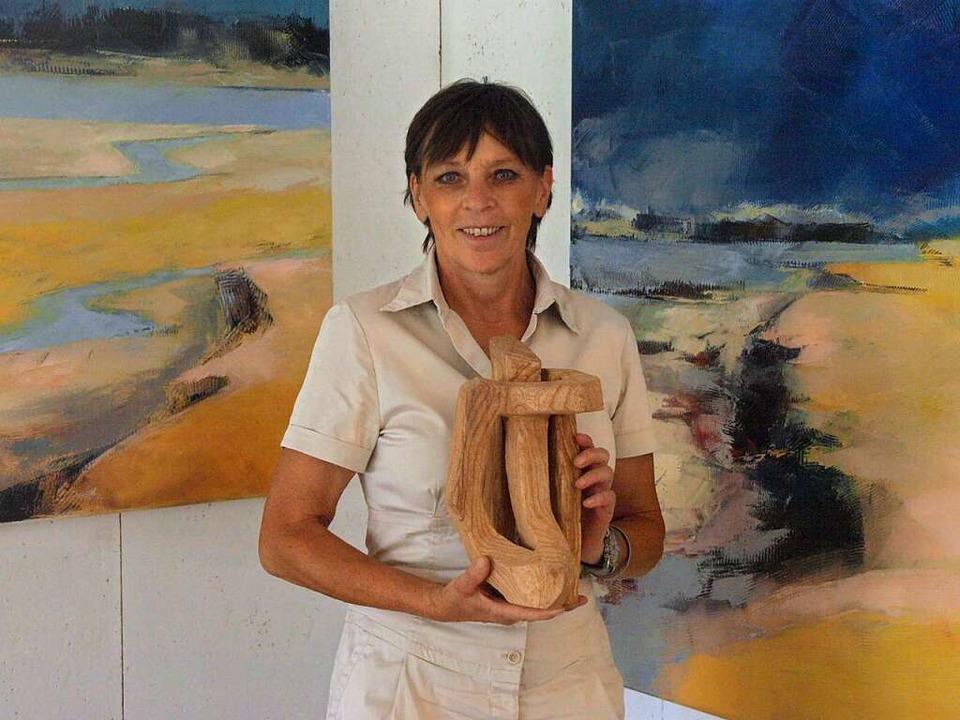 Die Bernauer Künstlerin Christel Steie...gen und bereitet eine Ausstellung vor.  | Foto: Karin Stöckl-Steinebrunner