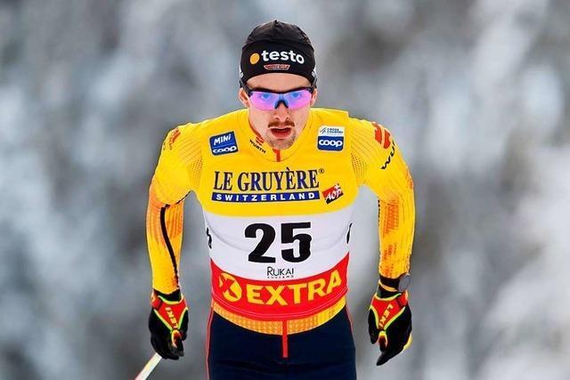 Janosch Brugger aus Lenzkirch stürmt auf Rang sechs bei der sechsten Tour-de-Ski-Etappe