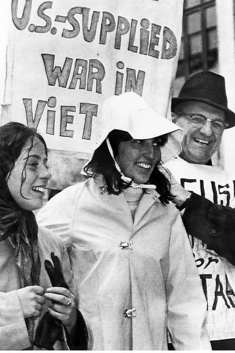 Baez demonstriert 1967 für den Einbeha...verweigerer brachte sie ins Gefängnis.  | Foto: UPI
