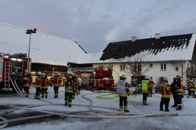 Bauernhof in St. Peter ist nach Brand nicht mehr bewohnbar