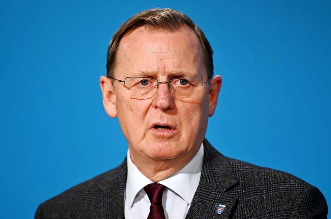 "Thüringens Ministerpräsident Bodo Rame...rankfurter Allgemeinen Zeitung"".  | Foto: Martin Schutt (dpa)"