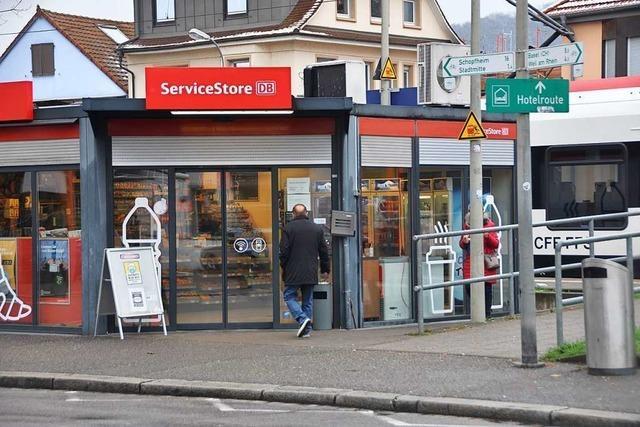 Der Kiosk am Bahnhof Lörrach-Stetten schließt