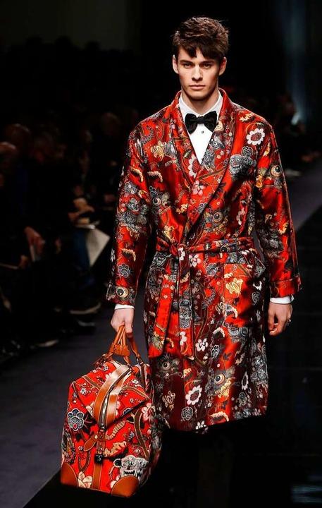 Auch ein Pyjama kann mit Stil getragen werden.  | Foto: afp
