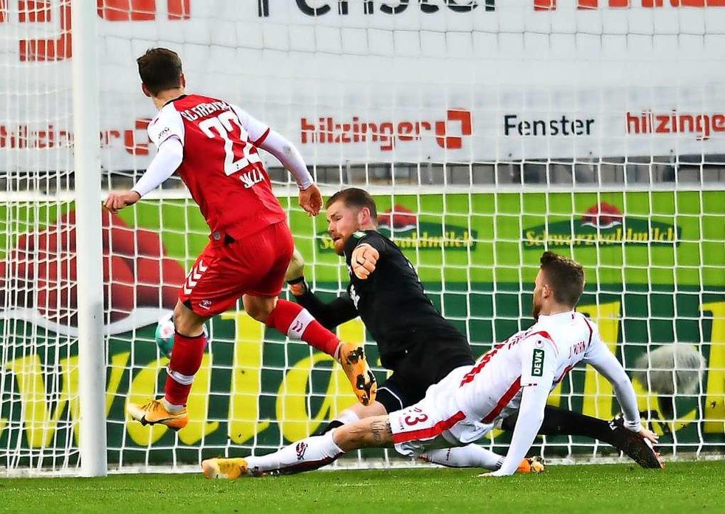 Roland Sallai mit dem Treffer.  | Foto: SC Freiburg/Achim Keller