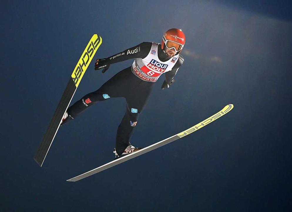 Markus Eisenbichler ist der einzige de... Samstag wirklich zufrieden sein kann.  | Foto: CHRISTOF STACHE (AFP)