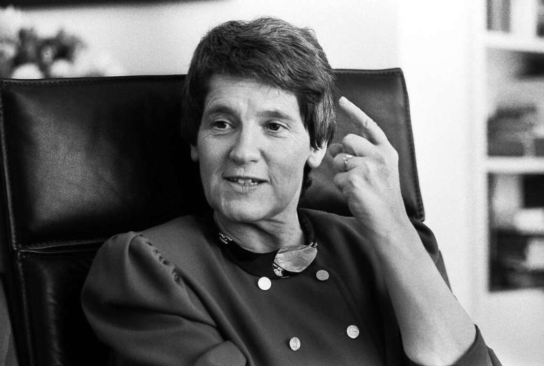 Eine, die die sogenannte fünfte Frakti... war Rita Süssmuth, hier im Jahr 1990.  | Foto: Sepp Spiegl via www.imago-images.de