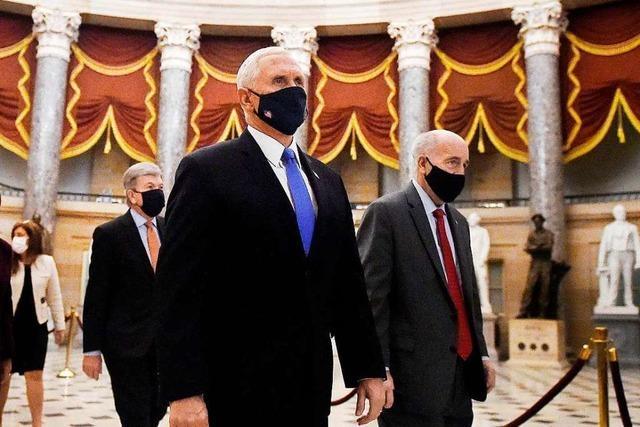 US-Medien: Mike Pence nimmt an Bidens Amtseinführung teil