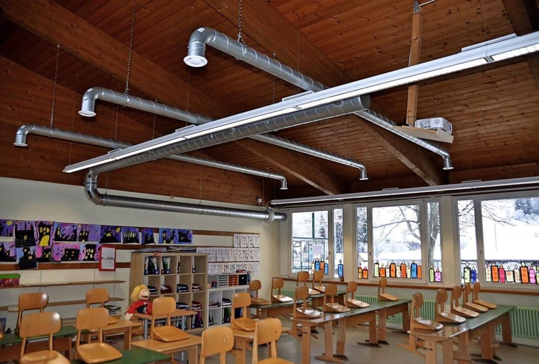 500 Euro hat die Lüftungsanlagen in ei...t-Columban-Schule Münstertal gekostet.    Foto: Rainer Ruther