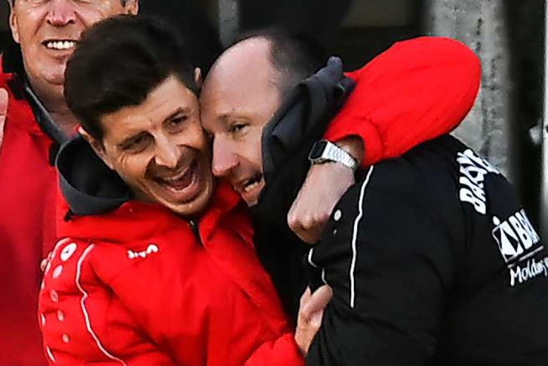 So viel Freude war nur kurz bei Dennis...zum nächsten Auswärtsspiel in Koblenz.    Foto: Patrick Seeger