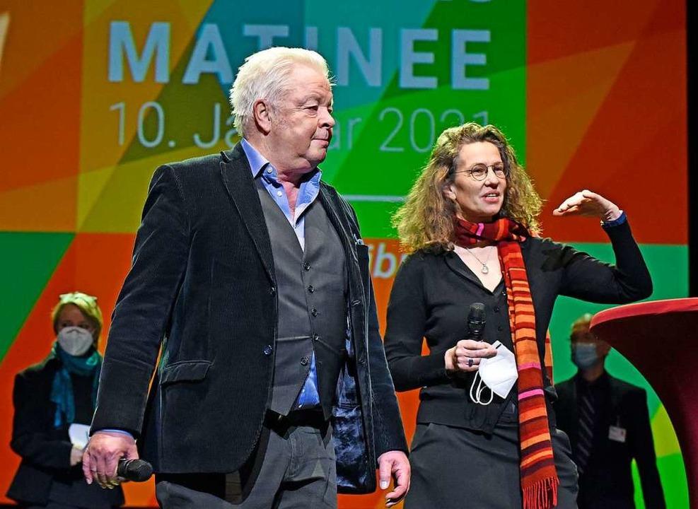 Theater-Intendant Peter Carp und die Kaufmännische Direktorin Tessa Beecken  | Foto: Michael Bamberger