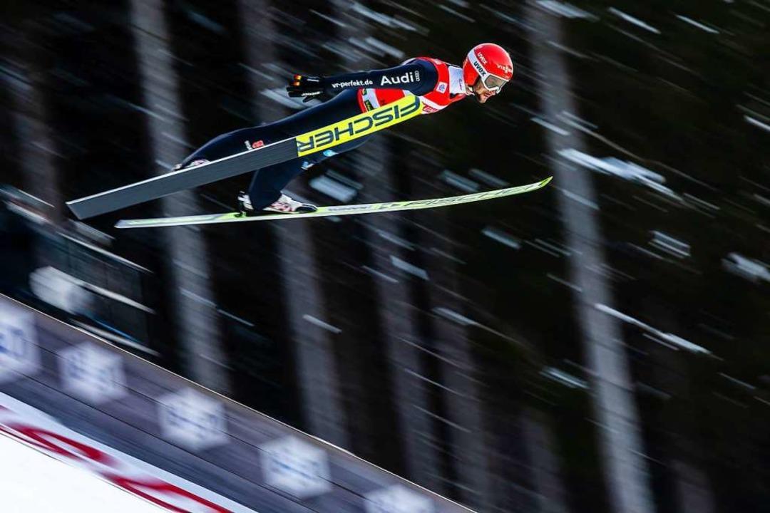 Markus Eisenbichler wird Vierter.    Foto: Philipp von Ditfurth (dpa)