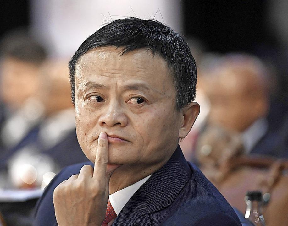 Der chinesische Milliardär Jack Ma   | Foto: STR