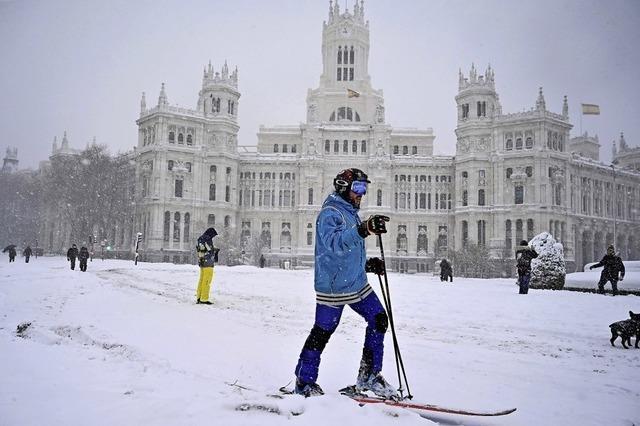 Madrid im Winterchaos