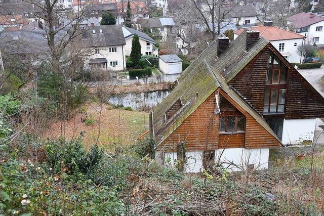 Oberhalb des Biotops Krottenweiher sollen zwei Häuser entstehen