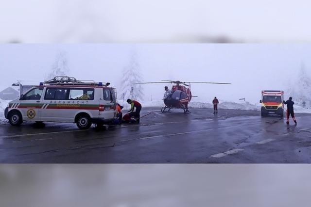 Bergwacht war im Einsatz – Rodlerin verletzte sich