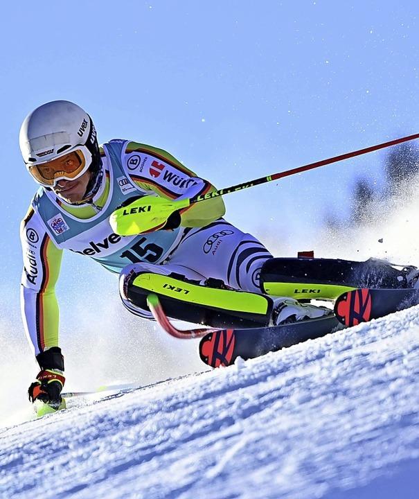 Mächtig in Fahrt: Linus Straßer in Adelboden  | Foto: FABRICE COFFRINI (AFP)