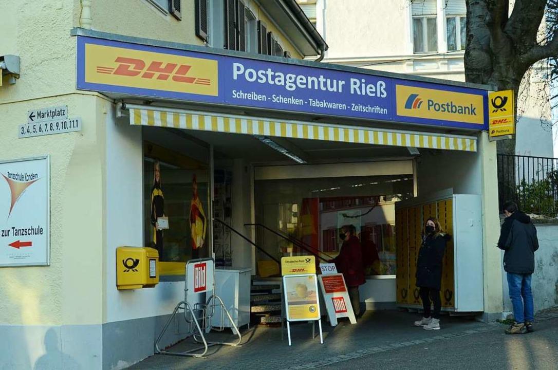 Die Postagentur Rieß am Kanderner Marktplatz schließt zum Monatsende.    Foto: Moritz Lehmann