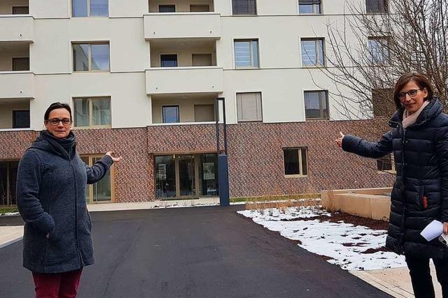 Die ersten Mieter des Wohnprojekts am Eisweiher in Schopfheim ziehen ein
