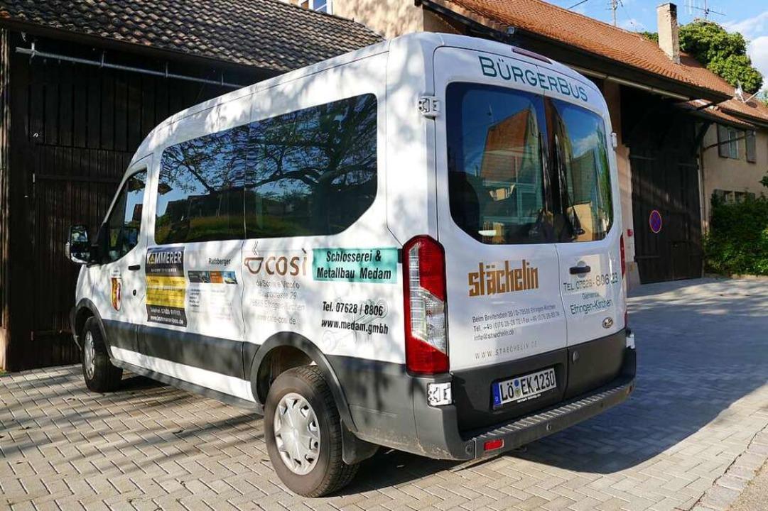 Der Bürgerbus ist wieder für Fahrwünsche parat.  | Foto: Victoria Langelott