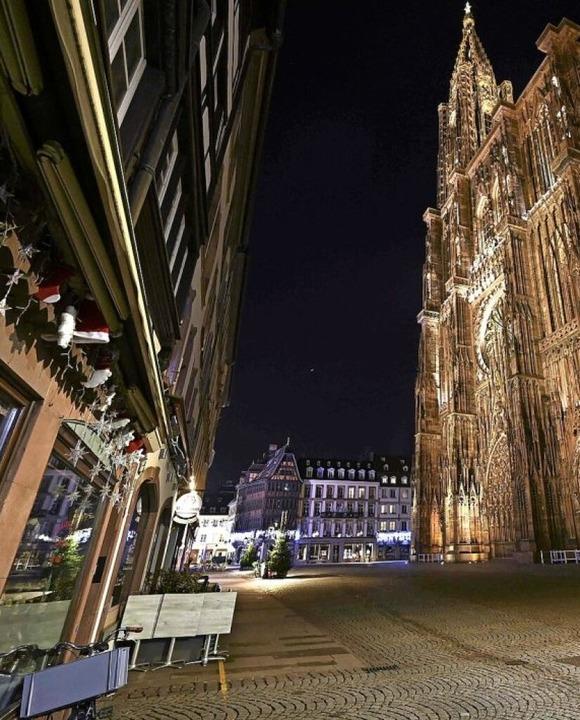 Abendliche Leere auf Straßburgs Plätzen  | Foto: FREDERICK FLORIN (AFP)