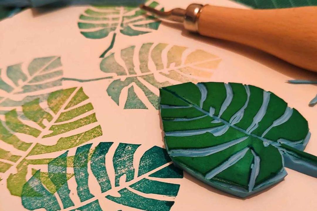 Kreativ und besonders: ein selbst gefertigter Stempel  | Foto: Sarah Spieler