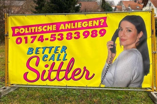 Die Lahrer Kandidatin Regina Sittler wirbt mit dem Titel einer amerikanischen Fernsehserie