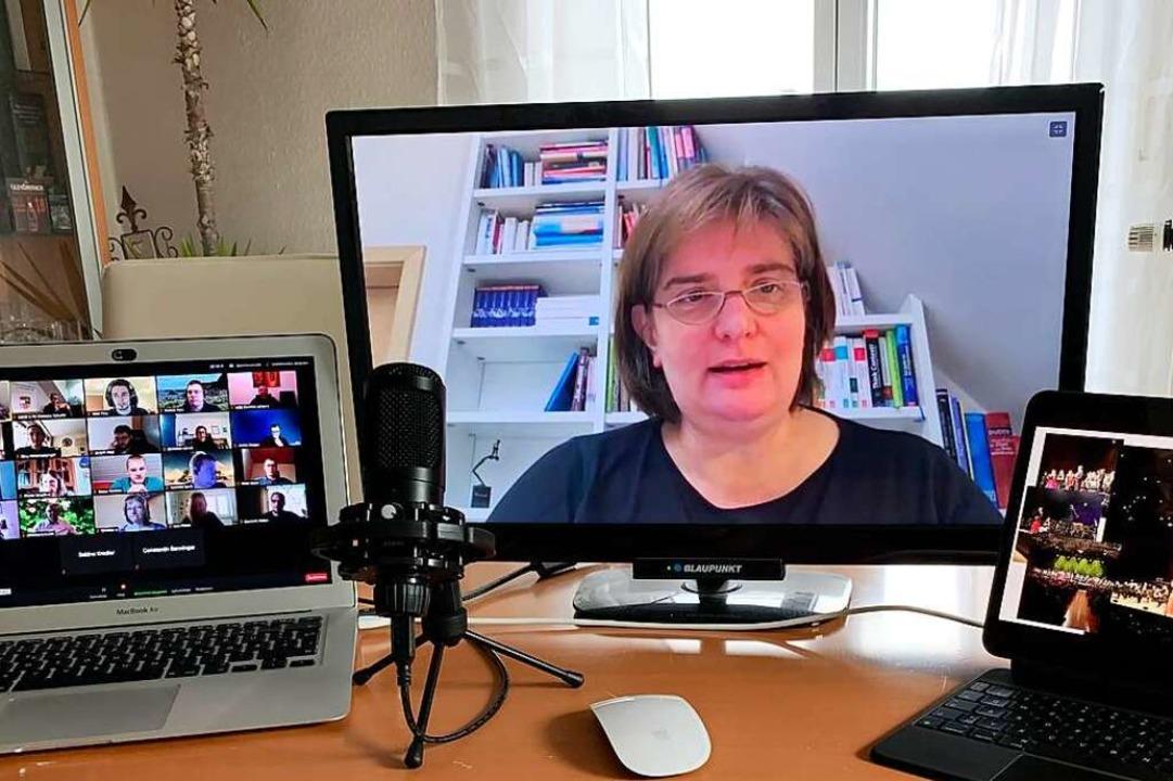 Total digital: Alexandra Link hat ein Händchen fürs Internet und soziale Medien.  | Foto: Clemens Vykydal Nordbayerischer Musikbund