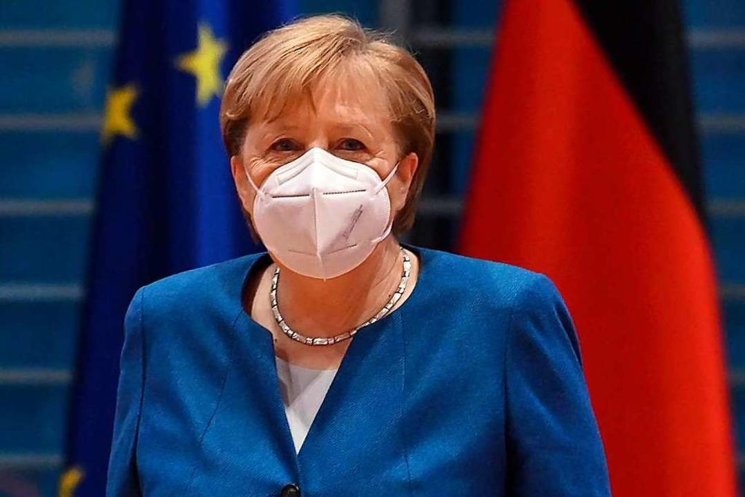 Bundeskanzlerin Angela Merkel an der Kabinettssitzung vom 6. Januar  | Foto: JOHN MACDOUGALL (AFP)