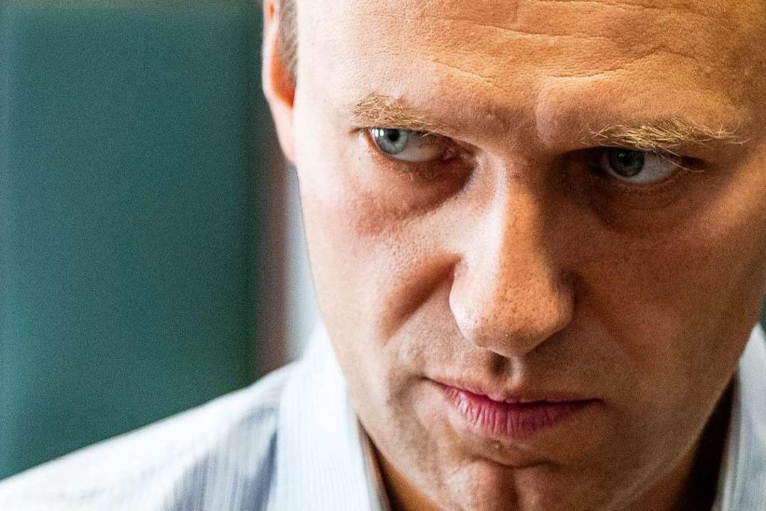 Der Oppositionsführer lässt sich nicht einschüchtern.  | Foto: Pavel Golovkin (dpa)