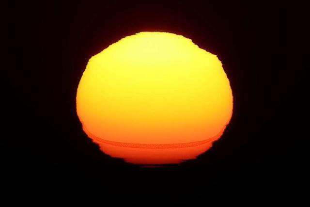 Spektakulärer Sonnenuntergang im Sundgau