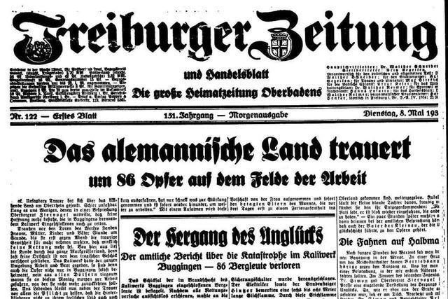 So berichtete die Freiburger Zeitung über die Bugginger Kaliwerk-Katastrophe