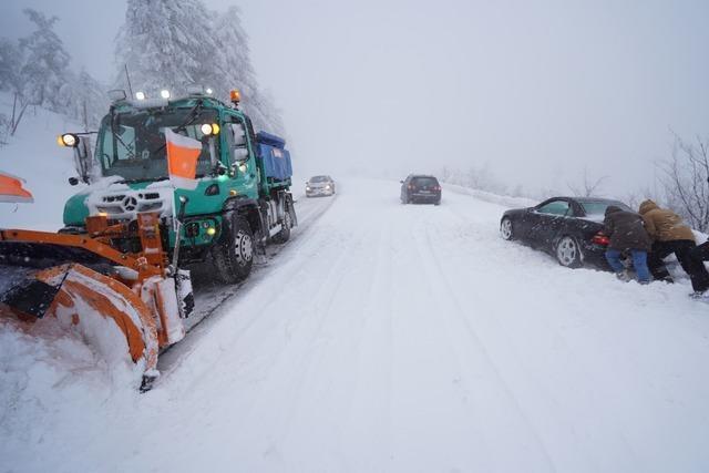 Glatte Straßen führen zu mehreren Unfällen im Ortenaukreis