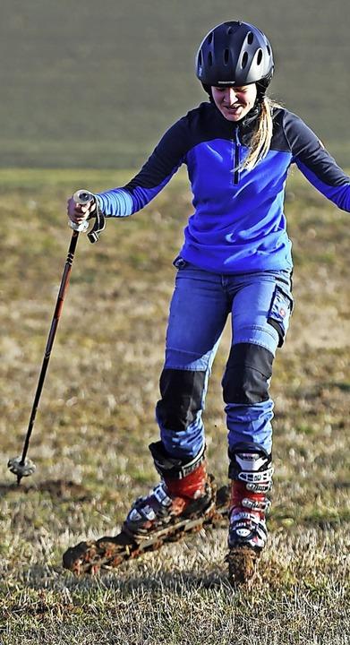 Der Skiclub Ewattingen trotzte dem Sch...hand ein Gras-Ski-Rennen veranstaltet.  | Foto: Wolfgang Scheu