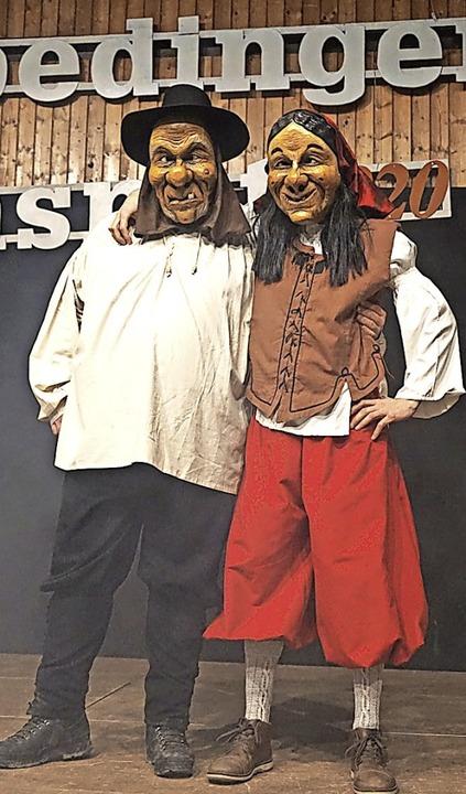 Premiere feierten zwei neue Fasnetfiguren:   Däschle und Turkos.  | Foto: BZ