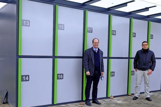 Zwölf neue Fahrradboxen am Schliengener Bahnhof