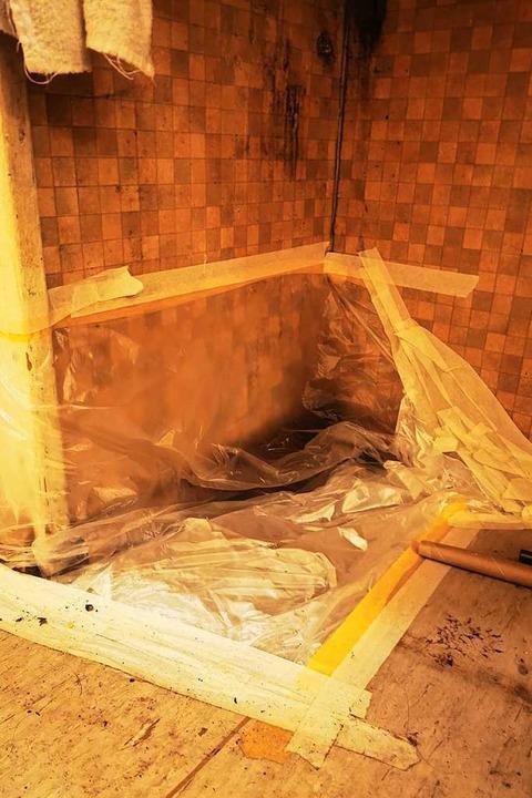 Zerstörte Sanitäranlagen  | Foto: Bewohner