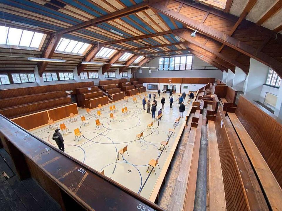 Der Nachsorgebereich des Kreisimpfzentrums in der Großmarkthalle  | Foto: Mark Alexander