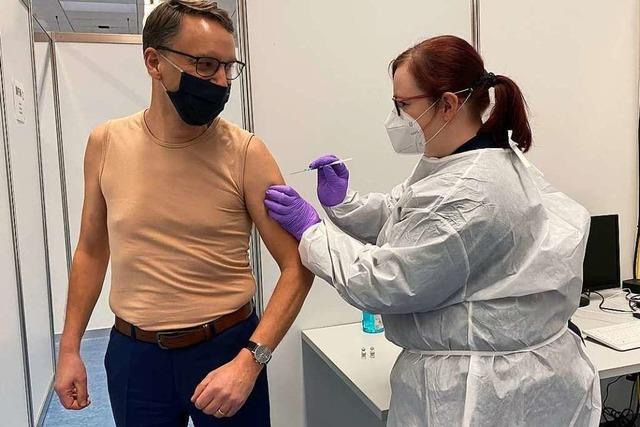 Fotos: Das Lahrer Impfzentrum vor dem Auftakt
