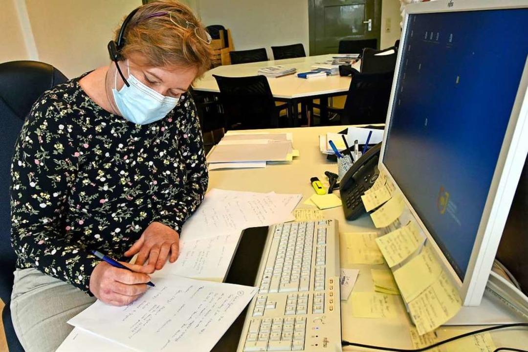"""Kontaktverfolgung im Gesundheitsamt de...verzichtbar ist"""", sagt Anke Sax.    Foto: Michael Bamberger"""