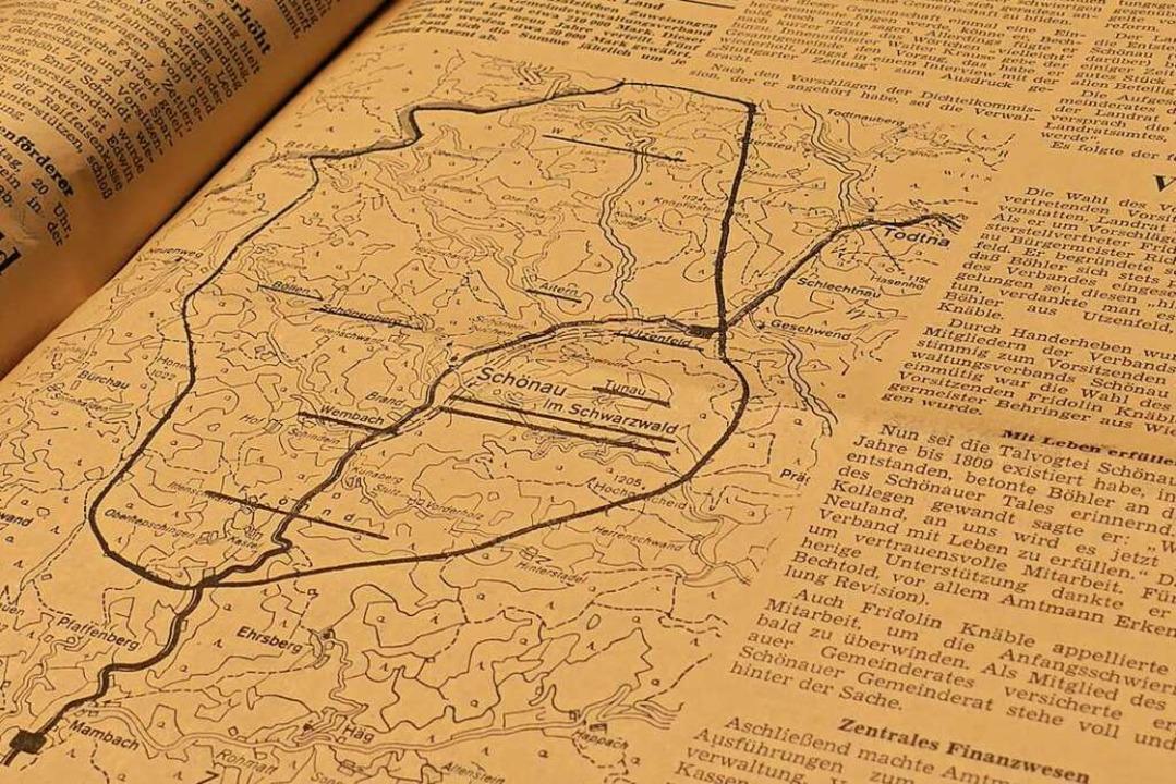 Ein Blick ins Archiv: Am 14. Januar 19... BZ über die Gründung des GVV Schönau.    Foto: Sarah Trinler