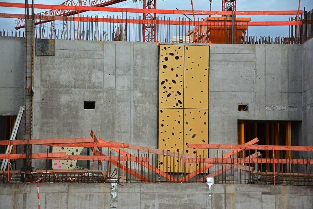 Probe überzeugt nicht: So soll die Fassade  nicht aussehen.    Foto: Hannes Lauber