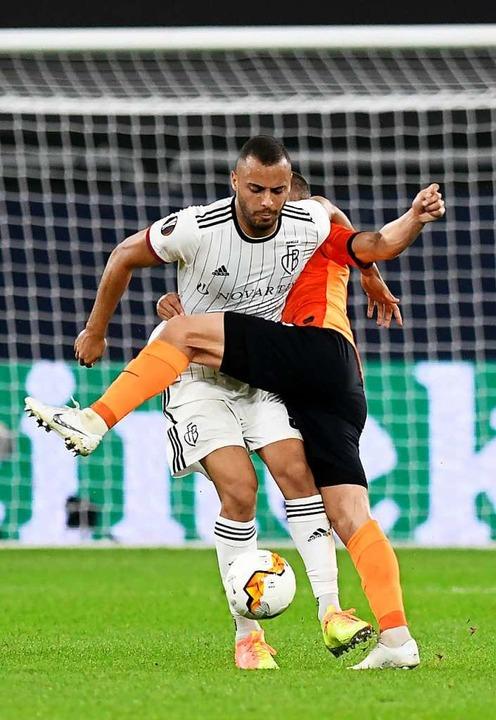Traf zum 2:0 für die Basler: Arthur Cabral  | Foto: Bernd Thissen (dpa)