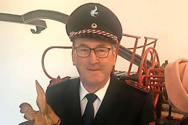 Helmut Nübling ist 50 Jahre Mitglied in der Feuerwehr Denzlingen