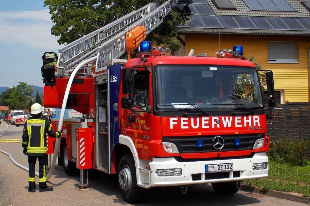 Die Denzlinger Wehr im Einsatz  | Foto: Feuerwehr Denzlingen Stephan Konrad