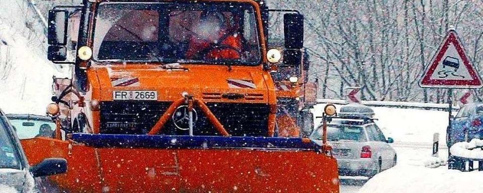 Schwierige Verkehrsverhältnisse aufgrund des starken Schneefalls