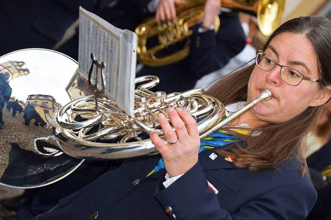 Stadtmusik beim Fridolinsfest    Foto: Hildegard Siebold