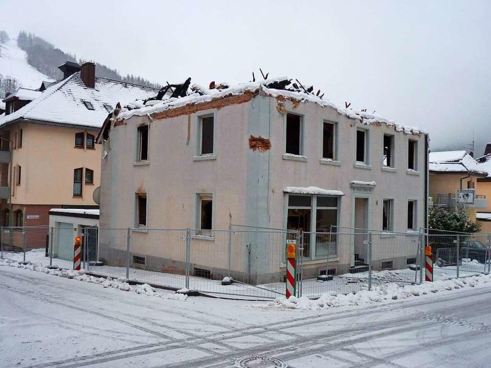 Die Brandruine in Todtnau  | Foto: Sattelberger