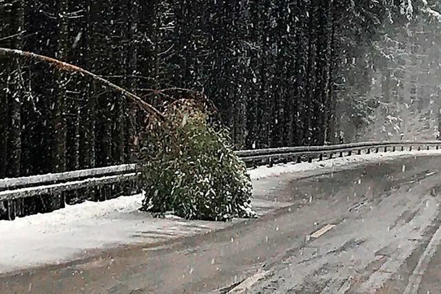 Lkw blockiert für Stunden die L103 von Steinach auf den Geisberg