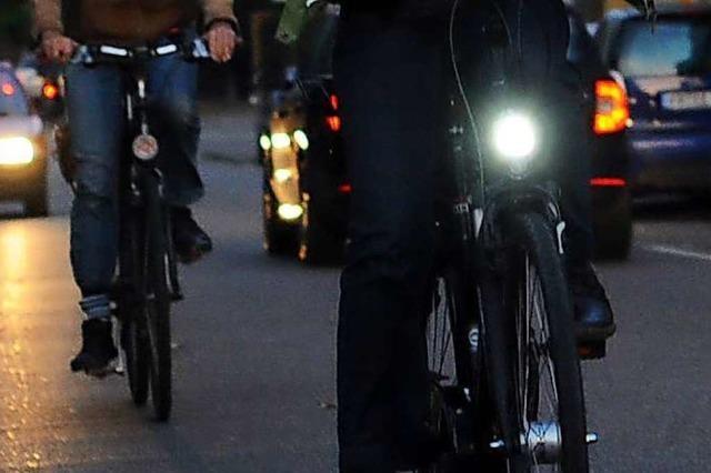 In Weil am Rhein gab es nur acht Anzeigen in zehn Jahren wegen Radelns ohne Licht